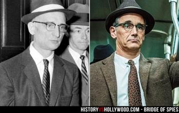 Mark Rylance vive o agente soviético Rudolf Abel. Crédito: History vs Hollywwod