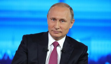 O presidente da Federação Russa Vladimir Putin. Crédito: Washington Examiner.