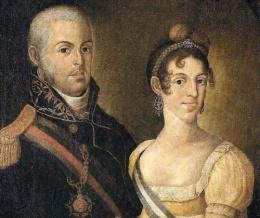 Dom João VI e Carlota Joaquina. Crédito: Wikimedia commons/ Boal-Uol.