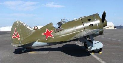 O Polikarpov I-16, o tipo de avião pilotado por Aleksei Maresiev. Crédito: The Aviation History Online Museum.