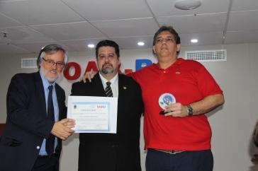 O consultor e articulista do Revista Intertelas João Claudio Platenik Pitillo também foi premiado na ocasião. Crédito: Alfredo Rosa