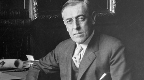 Woodrow Wilson, presidente dos EUA cuja tese dos 14 pontos que dava fim ao imperialismo foi negada pelos demais governantes norte-americanos. (AP Photo)