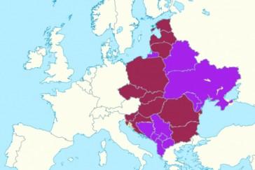 Levando em conta o passado histórico o mapa político da Międzymorze seria este. Crédito: AlexJones.pl
