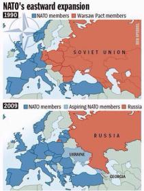 A expansão da OTAN nos últimos anos preocupa a Rússia e traz instabilidade ao mundo. Crédito: Reddit.