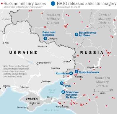 A Rússia responde ao avanço da OTAN. Crédito: Washington Post.