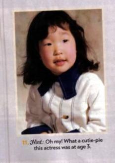 Sandra Oh na infância. Crédito: Koreapost.