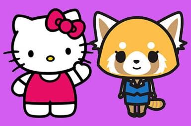 Hello Kitty (E) e Aggretsuko (D). Crédito: BuzzFeed.