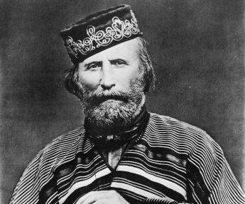 Giuseppe Garibaldi participou da Revolução Farroupilha no Brasil e foi um dos líderes da Unificação Italiana. Crédito: Famous People.