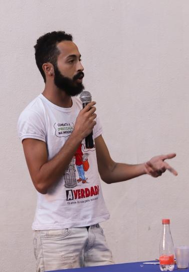 """Raphael Assis do jornal """"A Verdade"""". Crédito: Mariana S. Brites / Revista Intertelas."""