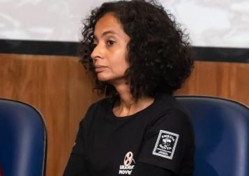 A diretora executiva do International Uranium Film Festival Márcia Gomes de Oliveira. Crédito: Mariana S. Brites / Revista Intertelas.