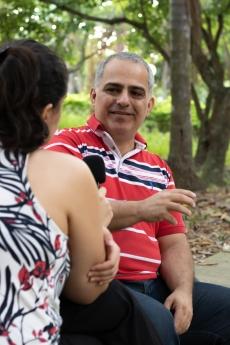 O pesquisador brasileiro Carlos Daróz. Crédito: Mariana S. Brites/Revista Intertelas.