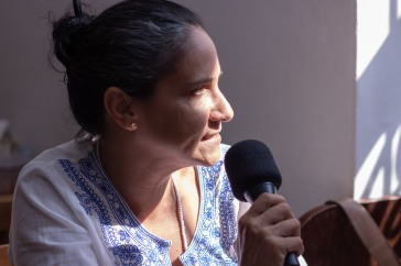 A curadora Nélida Capela. Crédito: Mariana S. Brites/Revista Intertelas