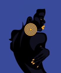 Gravura - Digital Black and Blue. Crédito: Lia Amazonas.