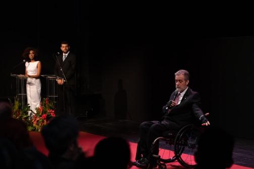 Antonio Claudio Lucas da Nóbrega, reitor da UFF, na abertura do 4°Festival do BRICS. Crédito: Mariana S. Brites/Revista Intertelas.