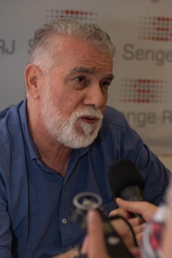 Francisco Carlos Teixeira, um dos organizadores do livro. Crédito: Mariana S. Brites/Revista Intertelas.