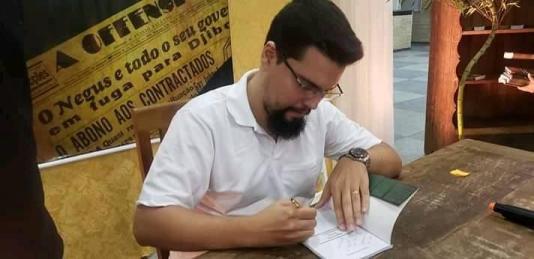O autor Vinícius Ramos. Crédito: Facebook Vinícius Ramos.